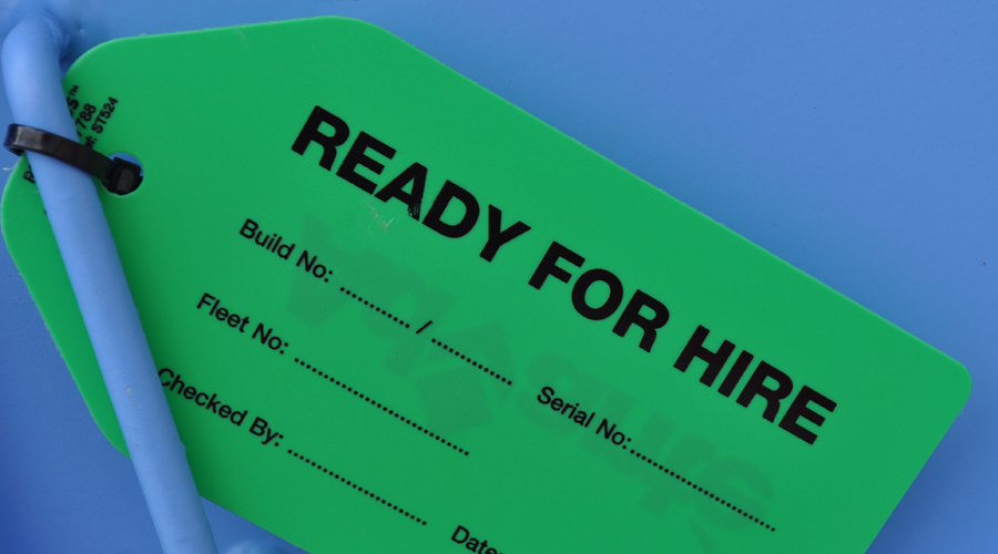Ready for hire label