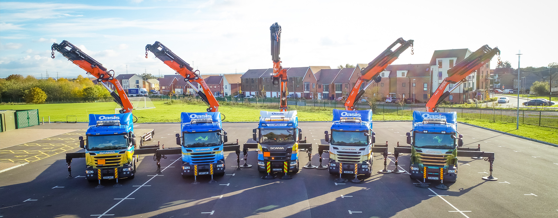 Advante transport lorry loader line up