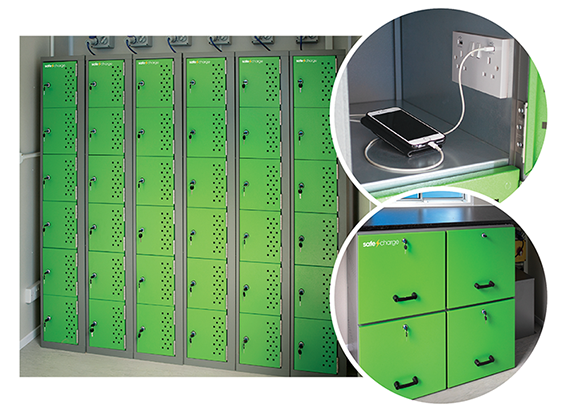 SafeCharge lockers close up 1