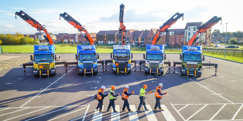 The beatles line up drivers and lorry loaders