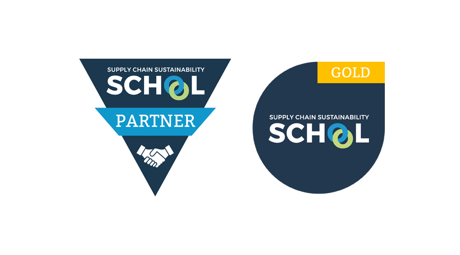 Supply Chain Sustainability School gold and member logos