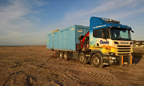 Oasis EcoLogic unit on lorry at the beach