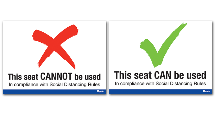 Social distancing safe zone Stickers