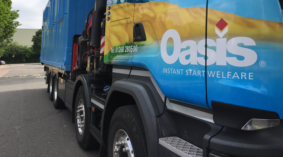 Advante Transport Lorry Loader with Oasis Unit Fassi Crane Scania Chassis